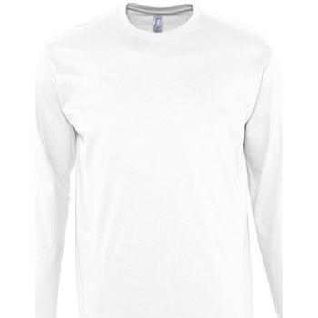 Textil Homem T-shirt mangas compridas Sols MONARCH COLORS MEN Blanco