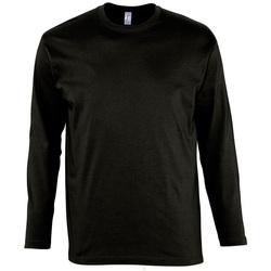 Textil Homem T-shirt mangas compridas Sols MONARCH COLORS MEN Negro
