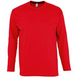 Textil Homem T-shirt mangas compridas Sols MONARCH COLORS MEN Rojo