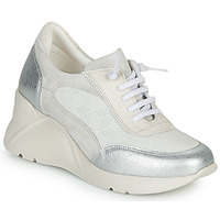 Sapatos Mulher Sapatilhas Hispanitas TOKIO Branco / Prateado