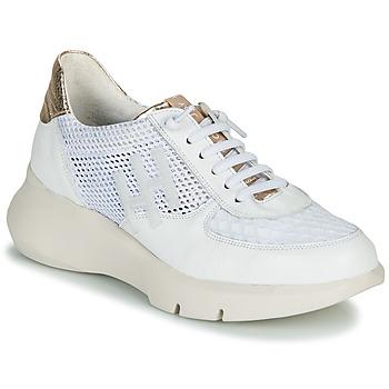 Sapatos Mulher Sapatilhas Hispanitas CUZCO Branco / Ouro / Rosa
