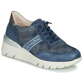 Sapatos Mulher Sapatilhas Hispanitas RUTH Azul / Ouro / Prata