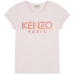 Textil Rapariga T-Shirt mangas curtas Kenzo Kids LOGO JG 3 CAMISETA rosa