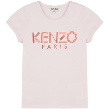Textil Rapariga T-Shirt mangas curtas Kenzo LOGO JG 3 CAMISETA rosa
