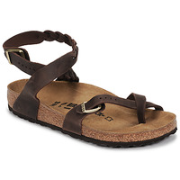 Sapatos Mulher Sandálias Birkenstock YARA LEATHER Castanho
