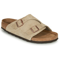 Sapatos Chinelos Birkenstock ZURICH SFB LEATHER Cinzento
