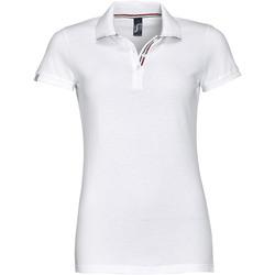 Textil Mulher Polos mangas curta Sols PATRIOT FASHION WOMEN Blanco