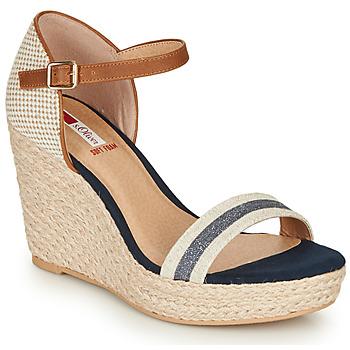 Sapatos Mulher Sandálias S.Oliver NOULATI Bege / Marinho
