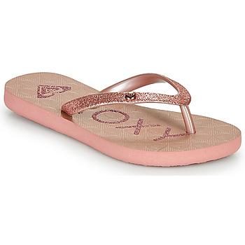 Sapatos Rapariga Chinelos Roxy VIVA GLTR III Rosa