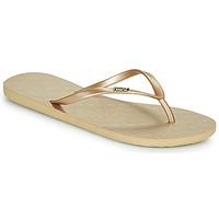 Sapatos Mulher Chinelos Roxy VIVA V Ouro