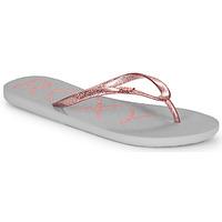Sapatos Mulher Chinelos Roxy VIVA SPARKLE Cinza / Rosa