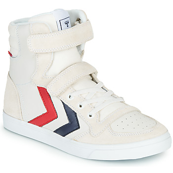 Sapatos Criança Sapatilhas de cano-alto Hummel SLIMMER STADIL LEATHER HIGH JR Branco