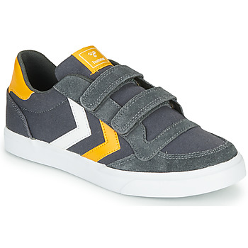 Sapatos Criança Sapatilhas Hummel STADIL LOW JR Cinza
