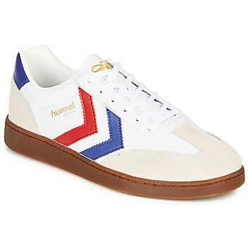 Sapatos Homem Sapatilhas Hummel VM78 CPH LEATHER Branco / Vermelho / Azul