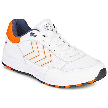 Sapatos Homem Sapatilhas Hummel 3-S SPORT Branco / Laranja