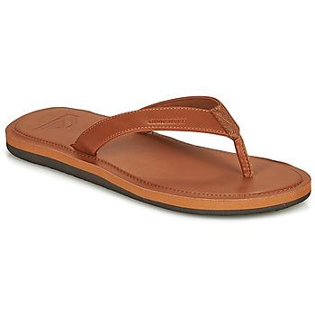 Sapatos Homem Chinelos Quiksilver MOLOKAI NUBUK II Castanho