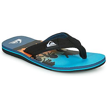 Sapatos Criança Chinelos Quiksilver MOLOKAI LAYBACK Azul