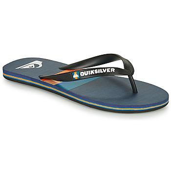 Sapatos Homem Chinelos Quiksilver MOLOKAI SEASONS Preto / Azul / Laranja