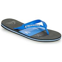 Sapatos Homem Chinelos Quiksilver MOLOKAI WOLRDBLOCK Azul / Preto