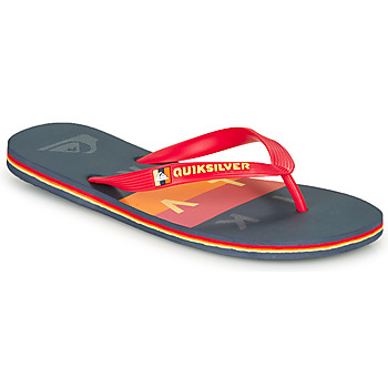 Sapatos Homem Chinelos Quiksilver MOLOKAI WOLRDBLOCK Azul / Vermelho