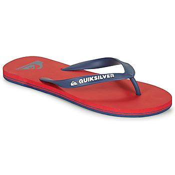 Sapatos Homem Chinelos Quiksilver MOLOKAI Vermelho / Marinho