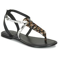 Sapatos Mulher Sandálias Les Petites Bombes ALIX Preto / Prata
