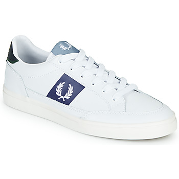 Sapatos Homem Sapatilhas Fred Perry B8198 LEATHER / WHITE / NAVY Branco