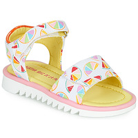 Sapatos Rapariga Sandálias Agatha Ruiz de la Prada SMILES Branco / Multicolor