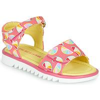 Sapatos Rapariga Sandálias Agatha Ruiz de la Prada SMILES Rosa / Multicolor