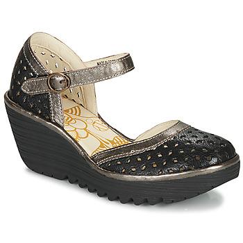 Sapatos Mulher Escarpim Fly London YVEN Preto / Bronze