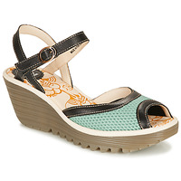 Sapatos Mulher Sandálias Fly London YANS Azul / Preto