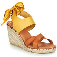 Sapatos Mulher Sandálias Pataugas FIONA Conhaque / Amarelo