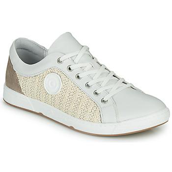 Sapatos Mulher Sapatilhas Pataugas JOHANA Cru / Amarelo