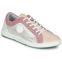 Sapatos Mulher Sapatilhas Pataugas JOHANA Rosa / Cru