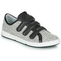 Sapatos Mulher Sapatilhas Pataugas JULIETTE Preto / Branco
