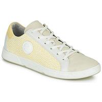 Sapatos Mulher Sapatilhas Pataugas JUNE/N Creme / Amarelo