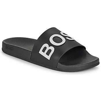 Sapatos Homem chinelos BOSS BAY SLID RBLG Preto / Branco