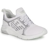 Sapatos Sapatilhas Emporio Armani EA7 RACER REFLEX CC Branco / Prateado