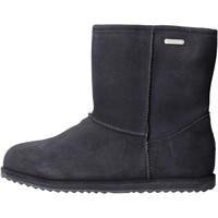 Sapatos Rapariga Botas de neve EMU - Stivale blu camoscio K10773 BLU