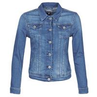 Textil Mulher casacos de ganga Pepe jeans THRIFT Azul