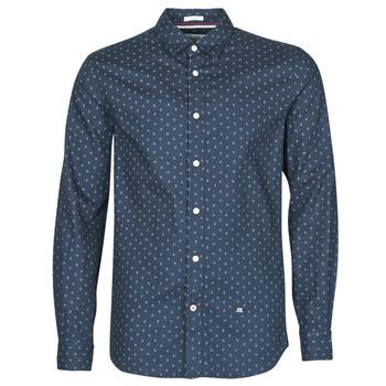Textil Homem Camisas mangas comprida Pepe jeans ADAN Marinho