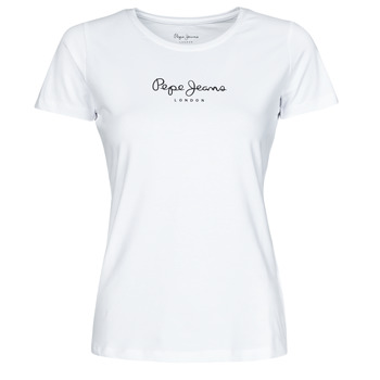 Textil Mulher T-Shirt mangas curtas Pepe jeans NEW VIRGINIA Branco