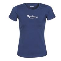 Textil Mulher T-Shirt mangas curtas Pepe jeans NEW VIRGINIA Marinho