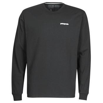 Textil Homem T-shirt mangas compridas Patagonia M's L/S P-6 Logo Responsibili-Tee Preto
