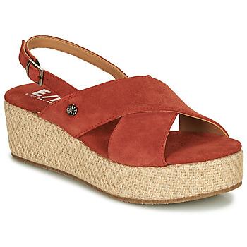 Sapatos Mulher Sandálias Elue par nous GESIEL Vermelho