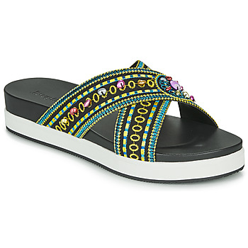 Sapatos Mulher Chinelos Desigual SHOES_NILO_BEADS Preto