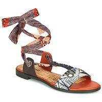 Sapatos Mulher Sandálias Desigual JUNGLE AFRICA Marinho / Branco