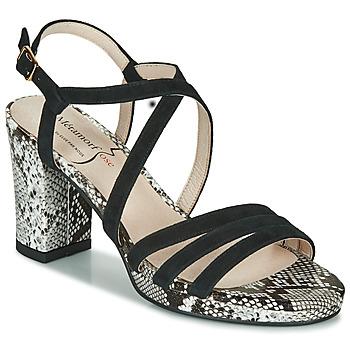 Sapatos Mulher Sandálias Metamorf'Ose GABARIT Preto