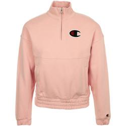 Textil Mulher Sweats Champion Half Zip Sweatshirt Rosa