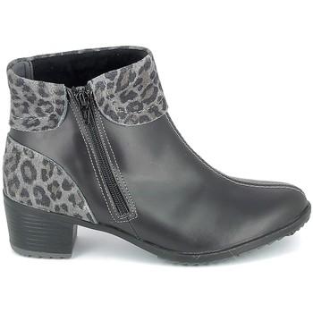 Sapatos Mulher Botins Boissy Boots Noir Leopard Preto